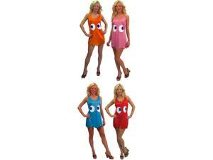 Pac-Man Deluxe Tank Dress Group Costume Adult/Teen Standard Set Of 4