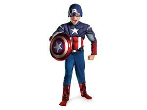 The Avengers Captain America Muscle Jumpsuit Costume Child Toddler