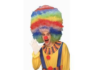 Mega Jumbo Rainbow Afro Circus Clown Adult Costume Wig