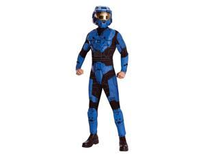 Halo Deluxe Blue Spartan Jumpsuit Costume Adult