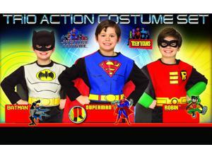 DC Superhero Trio Superman & Batman & Robin Costume Set Child