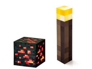 ThinkGeek 8EE-B2 Minecraft Light Up Torch and Redstone Ore Set Of 2