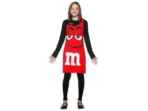 M&M Chocolate Candy Red Tank Dress Costume Tween