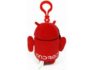 Android Plush Backpack Clip: Red
