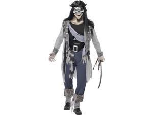 Haunted Swashbuckler Pirate Adult Costume Medium