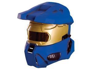 Halo Blue Spartan Costume Half Mask Adult