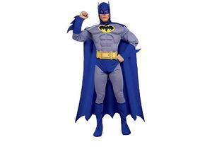 Batman Brave And Bold Deluxe Muscle Chest Batman Adult Costume Medium