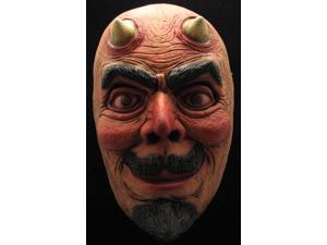 Devil Costume Half Face Mask Adult One Size