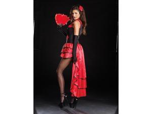 Sexy Flamenco Dancer Dress Costume Adult