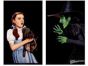 Wizard Of Oz Dorothy & Wicked Witch Double Window Halloween Sticker
