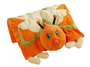 My Pillow Pets Plush Blanket: Orange Butterfly