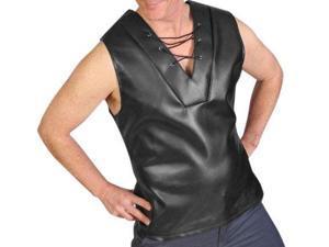 Tv Reporter Bruno Black Faux Leather Costume Vest