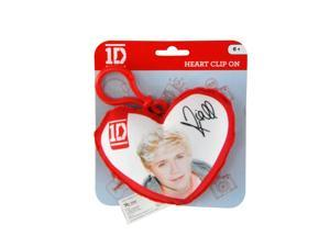 1D One Direction Plush Heart Back Pack Clip Niall