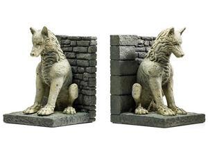 """Game Of Thrones 8"""" Direwolf Pair of Bookends"""