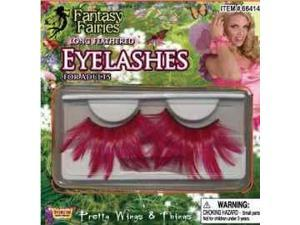 Summer Fairy Pink Eyelashes Costume Eyewear Accessory