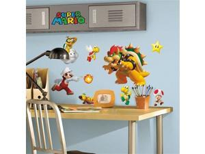 Super Mario Bros Peel And Stick 675SCS Wall Decal Set