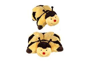 """My Pillow Pets Large 18"""" Square Buzzy Bumble Bee Plush Pillow"""