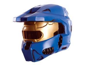 Halo Blue Spartan Costume Two Piece Mask Adult
