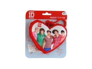 1D One Direction Plush Heart Back Pack Clip Group