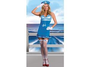 Sexy Nautical Cutie Sailor Dress Costume Adult Small