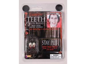 Vampire Costume Fangs With Blood