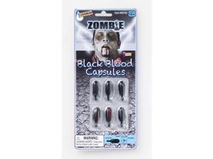 Zombie Black Blood Capsules Costume Accessory