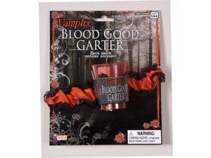 Red & Black Vampire Blood Garter Costume Accessory