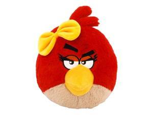 """Angry Birds 12"""" Plush Girl With Sound: Red Bird Yellow Bow"""