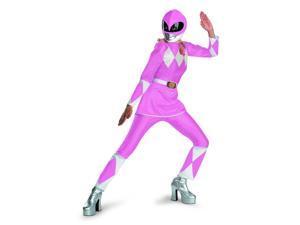 Power Rangers Pink Ranger Deluxe Adult Costume w/ Helmet Large 12-14