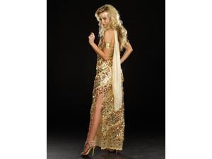 Sexy Golden Greek Goddess Sequin Dress Costume Adult Medium 6-10