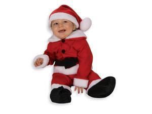 Fleece Santa Costume With Belt Newborn Child 0-9 Months