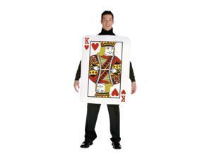 King of Hearts Card Costume Adult One Size Fits Most