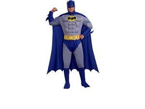 Batman Brave And Bold Deluxe Muscle Chest Batman Adult Costume X-Large