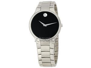 Movado Sero Black Dial Mens Watch 0606382