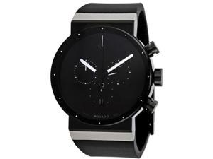Movado 0606501 Stainless Steel Case Synergy Chronograph Black Dial Black Rubber Strap Sapphire Crystal