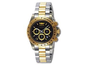 Invicta Men's Speedway GS Stainless Steel and Goldplated