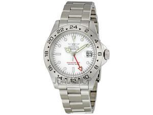 Invicta II Date Master GMT White Dial Mens Watch 9402