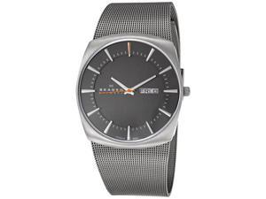Skagen Titanium Mesh Charcoal Mens Watch 696XLTTM
