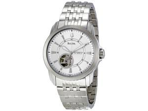 Bulova 96A100 Men's Silver Mechanical Automatic Analog Watch
