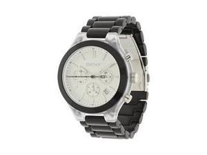 DKNY Chronograph Silver Dial Black Aluminum Ladies Watch NY8264