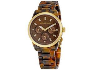 Michael Kors Ladies Tortoise Shell Watch MK5038