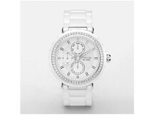 Fossil Ceramic Multifunction White Mother-of-Pearl Dial Women's Watch #CE1008