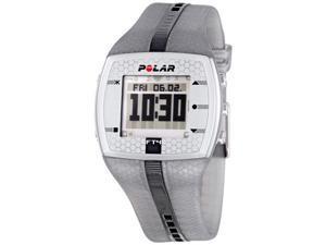 Polar FT4 Mens Heart Rate Monitor Digital Watch (Silver/Black)