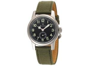 Bulova Mens Canvas Strap Watch 96A102