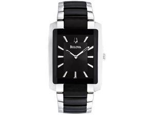 Bulova Bracelet Black Dial Men's Watch #98A117