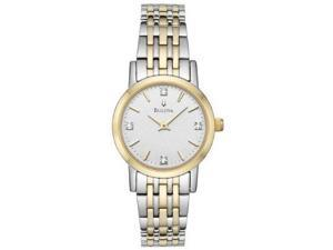 Bulova Diamond Collection Two-tone Bracelet Silver Dial Women's watch #98P115