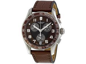 Victorinox Swiss Army Alliance Chronograph Brown Dial Mens Watch 241498