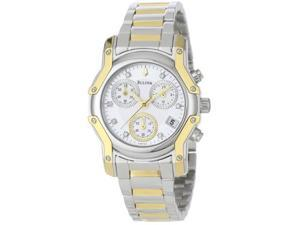 Bulova Diamond Collection Chronograph Silver Dial Women's Watch #98P120