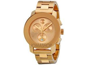 Movado Bold Rose Gold-tone Stainless Steel Womens Watch 3600077