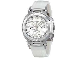 Tissot T-Race Chronograph White Rubber Strap Ladies Watch T0482171701700